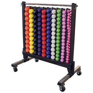 Body-Solid Commercial Dumbell Rack with Vinyl Dumbells - multi