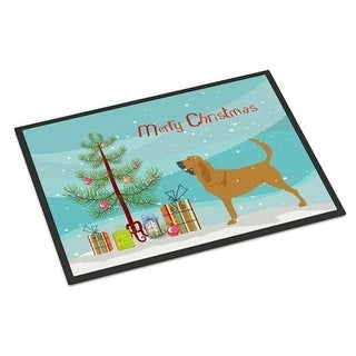 Carolines Treasures BB2902JMAT Bloodhound Merry Christmas Tree Indoor or Outdoor Mat 24 x 36