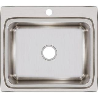 "Elkay LR2522  Lustertone 25"" Single Basin 18-Gauge Stainless Steel Kitchen Sink for Drop In Installations"