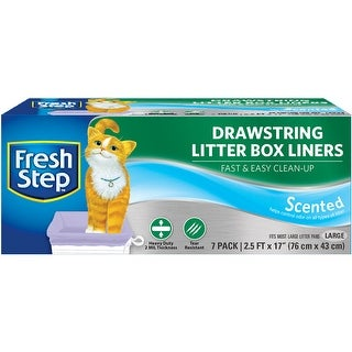 Fresh Step Drawstring Litter Box Liners, Scented, Large