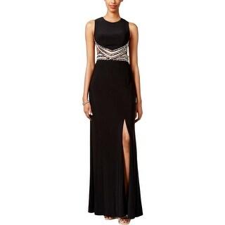 Blondie Nites Womens Formal Dress Cutout Illusion - 11