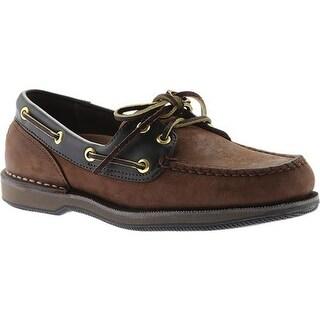Rockport Men's Perth Boat Shoe Chocolate/Bark Nubuck