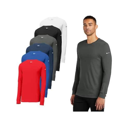 Nike Men's DRI-FIT Cotton/Poly Long Sleeve T Shirt