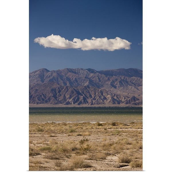 """Sea with a mountain range, Salton Sea, Bombay Beach, Imperial County, California"" Poster Print"