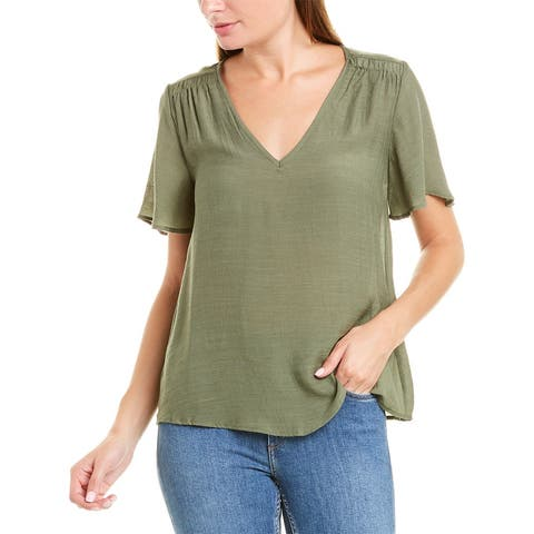 Nanette By Nanette Lepore Flutter Sleeve Tunic Top