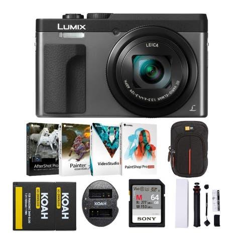 Panasonic LUMIX DC-ZS70 4K Digital Camera (Silver) with Holiday Bundle