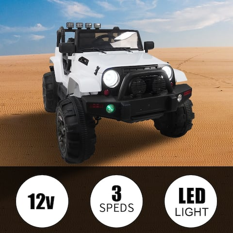 12V Kids Ride On Car Remote Control LED Lights White