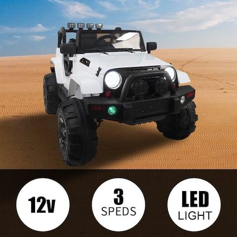 12V Kids Ride On Car Remote Control LED Lights White