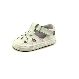 Keds Lil Adelle Infant Round Toe Leather White Sneakers