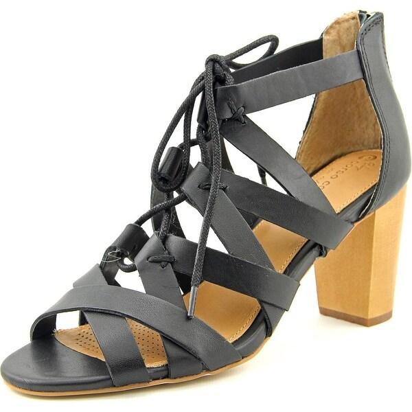 Corso Como Gorgi Women Open Toe Synthetic Black Sandals
