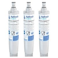 Replacement Water Filter For Whirlpool 4396509 Refrigerator Water Filter - by Refresh (3 Pack)