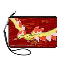 Moltres Fire Flying Pose3 Flames Reds Canvas Zipper Wallet