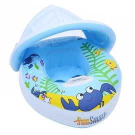Baby Swim Ring Thick PVC Children Crab Adjustable Sunshade Float
