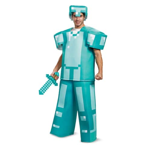 Adult Minecraft Prestige Armor Halloween Costume - Standard - One Size