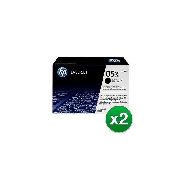 HP 05X LaserJet Toner Cartridge - Black (2-Pack) 2-pack High Yield Black Contract LaserJet Toner Cartridges