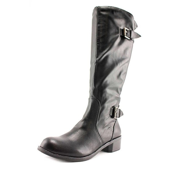 Style & Co Derbey Women Blk/Wide Calf Boots