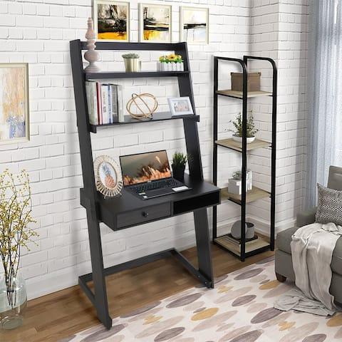 Sophia & William Ladder Desk with Drawer and 2 Open-shelves