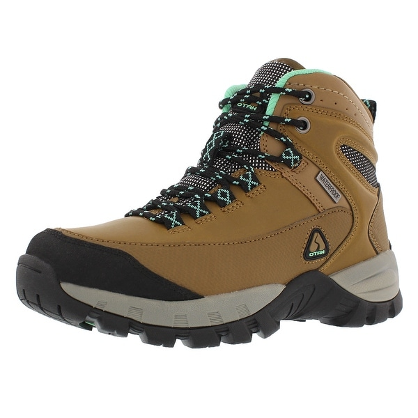 OTAH Forestier Women's Waterproof Hiking Mid-Cut Camel/Teal Boots