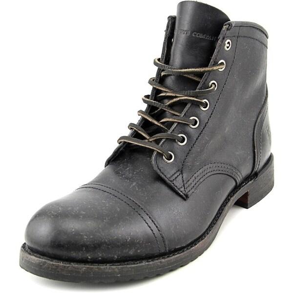 a30806bbcea Shop Frye Logan Cap Toe Men Cap Toe Leather Black Ankle Boot - Free ...