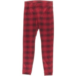Aqua Womens Plaid Pull On Leggings