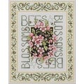 Bucilla Bees & Blossoms Counted Cross Stitch Kit - Thumbnail 0
