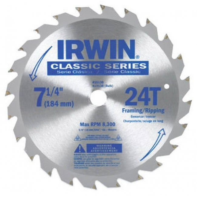 FREE SHIP Irwin 15130 Irwin Classic Series Carbide Tipped Circular Saw Blade