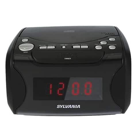 Sylvania Alarm Clock Radio with CD Player and USB Charging Manufacturer Refurbished