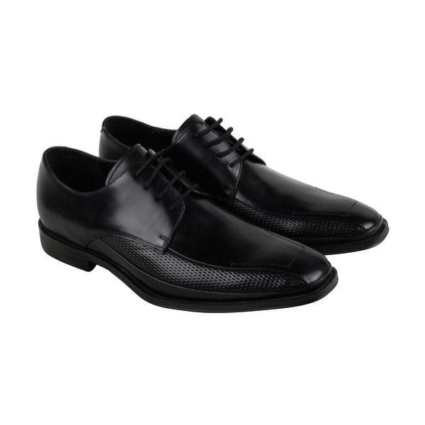 Kenneth Cole New York Shore House Mens Black Leather Casual Dress Oxfords Shoes