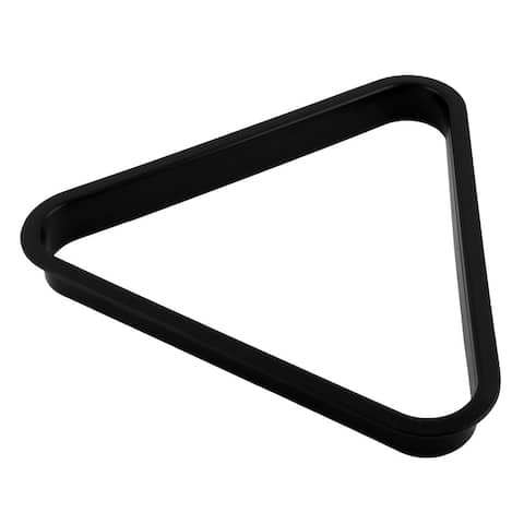 Plastic Billiard Table Pool English Ball Frame Triangle Rack Holder Black