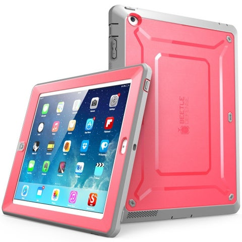 iPad 4 Case,SUPCASE, Apple iPad Case,Unicorn Beetle PRO Series,New iPad 3rd and 4th Generation-Pink/Gray