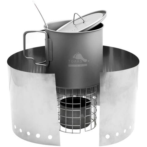 TOAKS Titanium Alcohol Stove Cook System - Outdoor Camping