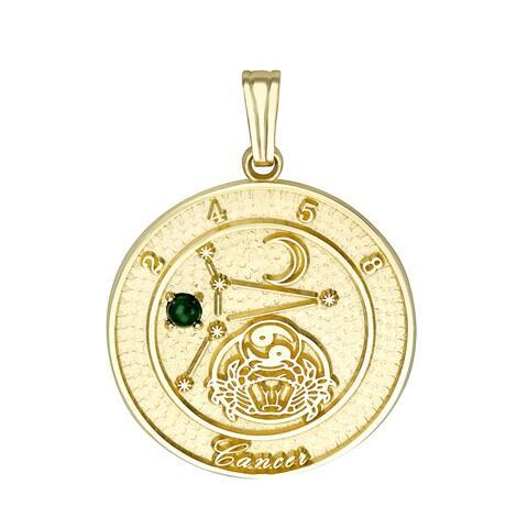 Forever Last 10 kt Cancer Talisman Zodiac pendant