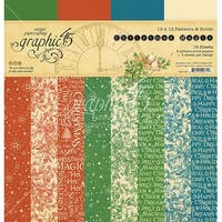 """Graphic 45 Double-Sided Paper Pad 12""""X12"""" 16/Pkg-Christmas Magic, 8 Designs/2 Each"""