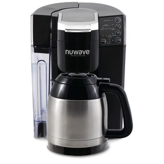 NuWave BruHub 3 in 1 Coffee Maker with Stainless Steel Carafe