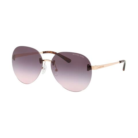 Michael Kors MK1037 11085M 60 Rose Gold Woman Pilot Sunglasses
