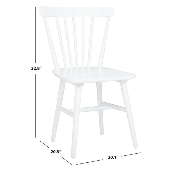 "Safavieh Winona Spindle Farmhouse Dining Chairs (Set of 2) - 20.1"" x 20.3"" x 32.8"""