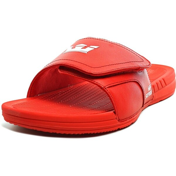 shop supra locker men open toe synthetic red slides sandal free
