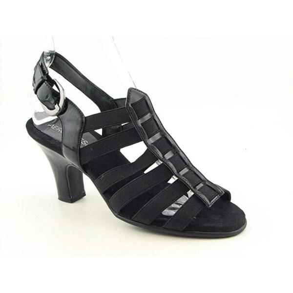 Aerosoles Gin Rickey Women W Open Toe Canvas Black Sandals