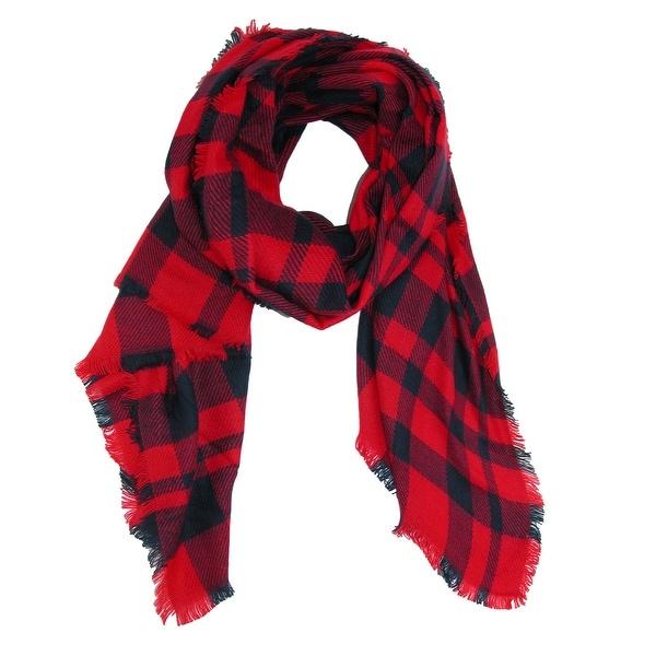 915a54e90ff1e Shop CTM® Women's Buffalo Check Blanket Scarf Wrap - Free Shipping ...