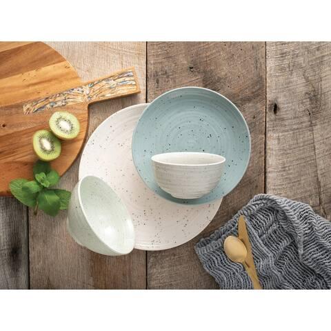 Sango Siterra Mixed 16 Piece Dinnerware Set, Service for 4