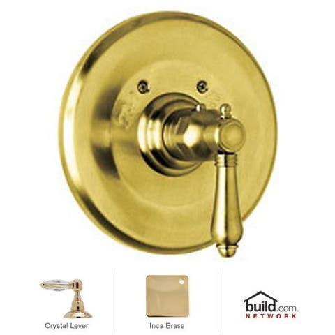 Rohl A4914LC Country Bath Thermostatic Shower Valve Trim (Trim Only) with Swarovski Crystal Lever Handle