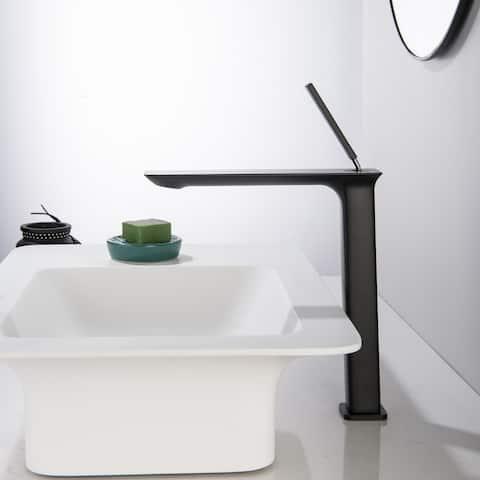 Square Single Hole Bathroom Vessel Faucet