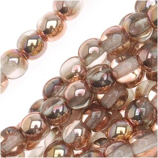 Czech Glass Druk Round Beads 4mm Apollo Gold (100)