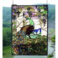Meyda Tiffany 50562 Stained Glass Tiffany Window from the Tiffany Peacock Collection