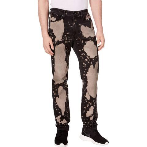Sean John Mens Mercer Straight Leg Jeans, Black, 36W x 32L
