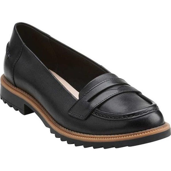 fad61ac9260 Shop Clarks Women s Griffin Milly Penny Loafer Black Leather - Free ...