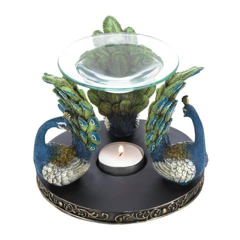 Pretty Peacock Oil Warmer