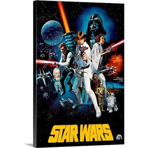 """Star Wars (1977)"" Canvas Wall Art"