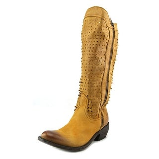 Independent Boot Company Mansfield Round Toe Leather Western Boot
