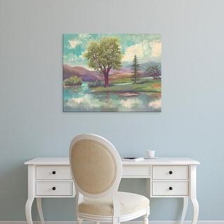 Easy Art Prints Victor Valla's 'Riverscape II' Premium Canvas Art